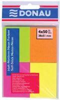 Bloček samolepící 51x38 mm NEONOVÉ barvy 4x50 listů