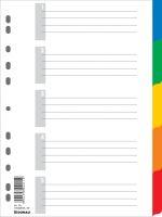 Rejstřík - rozřaďovač  A4 5 barev plast