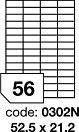 Etikety 52,5x21,2  56 etiket arch/100 archů