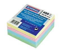 Samolepicí bloček v pastelových barvách, 76x76mm, 400 listů, DONAU, mix barev