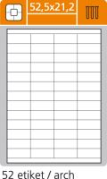 Etikety 52,5x21,2 52 etiket arch/100 archů