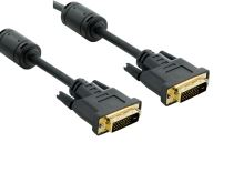 4World Kabel DVI-D 24+1M-24+1M 1.8m Black