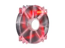 Coolermaster větrák 200x200x30 Mega Flow,LED red