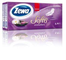 """Kapesníčky papírové ZEWA """"Softis"""", Aromathera"""