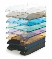 Zásuvka na spisy modrá transparentní