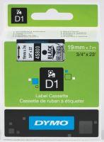 Páska DYMO D1 19mm x 7m černá na průhledné