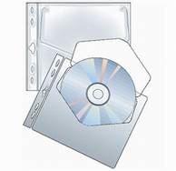 Obal na CD s euro závěsem - 10ks/bal
