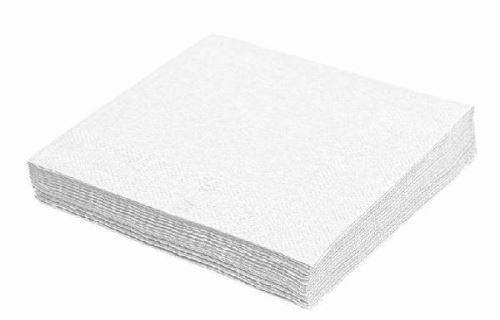 Ubrousky 33 x 33 cm 100 ks 1-vrstvé bílé