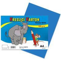 kreslící karton barevný  modrý A4 180gr. / 50 ks