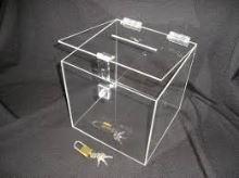 Pokladna z plexiskla malá se zámkem