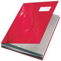 Designová podpisová kniha Leitz, Červená