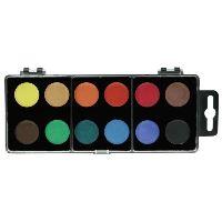 Vodové barvy 22mm - 12 barev