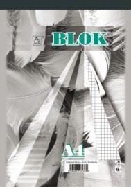 Blok A6 čtvereček 50 listů 16055 - šitý