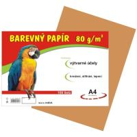 barevný papír A4 80gr. hnědý 100 listů