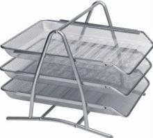 Drátěné zásuvky 3 stříbrné