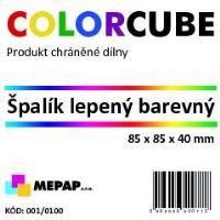 Špalík lepený 8,5x8,5x4 cm pastelové barvy