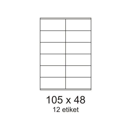Etikety 105x48 12 etiket arch/100archů