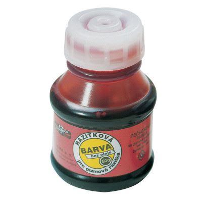 Razítková barva polštářková červená