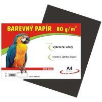 barevný papír A4 80gr. černý 100 listů