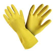 Rukavice gumové XL žluté