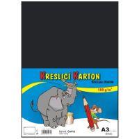 kreslící karton barevný černý  A3 180gr. / 50 ks