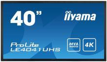 "40"" LCD iiyama ProLite LE4041UHS-B1 -4K, MVA, 4ms, 350cd, VGA, DVI, 2xHDMI, DP, RS232C, re"