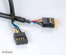 AKASA - USB kabel - 40 cm - prodlužovací interní
