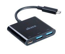 AKASA - power adaptér USB typ C s USB 3.0