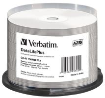 VERBATIM CD-R(50-Pack)Spindle/Print/52x/700MB/NoID