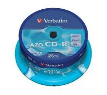 VERBATIM CD-R(25-Pack)Cake/Crystal/52x/700MB
