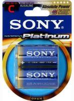 SONY Alkalické baterie AM2PTB2D, 2ks LR14/C, Stamina Platinum