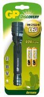 Svítilna LED GP LOE102 + 2 baterie GP AA