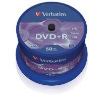 Média DVD+R Verbatim 4.7GB 16x, CakeBox, 50 kusů