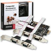 AXAGO PCI-Express adapter 4x sériový port