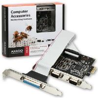 AXAGO PCI-Express adapter 2x sériový + 1x par.