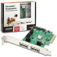 AXAGO PCIe 2-Lane řadič 4x int./2x ext. SATA 6G HD