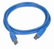 Kabel USB A-B 1,8m USB 3.0, modrý