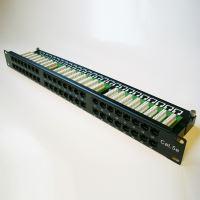 "DATACOM Patch panel 48p. Cat5e 1U BK 8x6p. Modul, UTP, 19"""