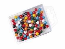 Špendlíky na tabule a nástěnky, 100 ks - kulička