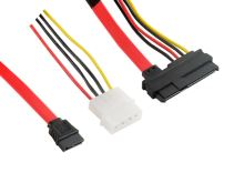 4World Kabel SAS 29pin F - SATA 7pin F + LP4 46cm
